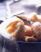 Roast Dublin Bay prawns with vanilla and almonds