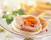Foie gras and mango chutney