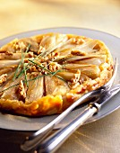 French endive and walnut tatin tart