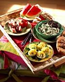 Provençal TV dinner tray