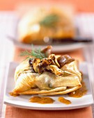 Mussel fricassee in filo pastry