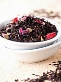 Loose tea in bowl