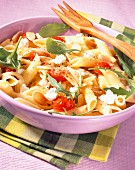 penne with baby vegetables