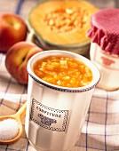 melon and peach jam