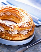 Paris-Brest chou pastry and praline cream cake