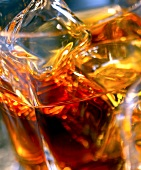 whisky and ice cubes