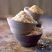 Bowls of cereal flakes