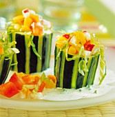 Raw vegetables in cucumber