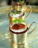 Mint tea in oriental glass