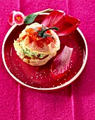 Tomato fritter stuffed with Brousse and pistou
