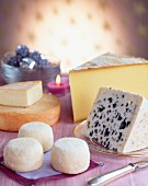 Reblochon,roquefort,comté and goat cheese