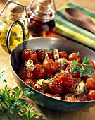 Pan-fried cherry tomatoes,soya sauce ( topic : cooking today)