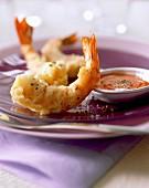 Prawn tempura with black pepper