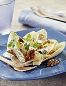 Chicory, blue cheese and walnut salad