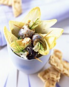 Chicory and rollmop salad with paprika cream