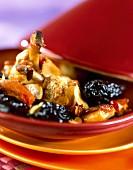Chicken, almond and prune Tajine