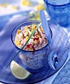 Tuna and lemon taboulleh