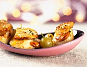 Pan-fried scallops and foie gras