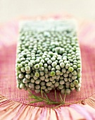 Block of frozen peas