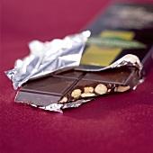 bar of hazelnut and almond chocolate