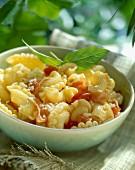 Creste di Gallo Nudeln mit Bacon und Parmesan