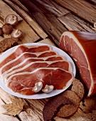 Raw Bavarian ham