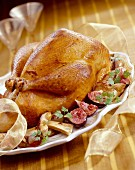 christmas turkey with figs and mushrooms