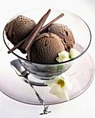 Chocolate ice cream, sorbet
