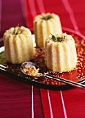 Small semolina, coconut and cardamom cakes