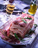 Warm red mullet and potato terrine