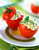 Tomatoes stuffed with Feta and basil