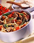 Spaghetti with wild mushrooms