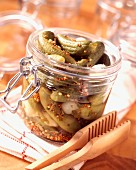 Jar of gherkins