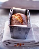 Orange cake in tin