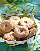 Frittierte Apfelringe