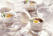 Coddled eggs with tapenade
