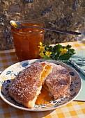 Apricot jam sugar bun