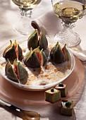 Figs in port Sabayon dessert