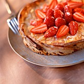 Almond tart with strawberries