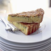 Fromage frais and lime tart