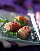 Duck foie gras and mango sashimi