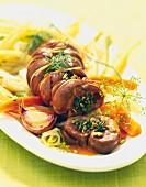 Kidney stuffed with fennel