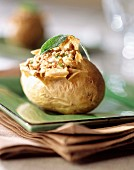 Baked potato stuffed with dried fruit
