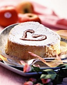 Heart-shaped cake for St Valentine's Day