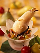 Fruit salad with vanilla pear