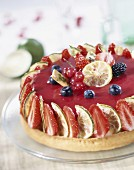 Summer fruit tart with lime