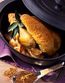 Curried chicken casserole
