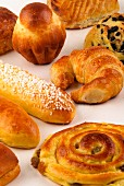 Selection of viennoiserie pastries