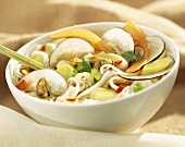 Chinese salad with mussels
