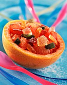 Grapefruit with crystallized fruit (topic : fruits beverages)